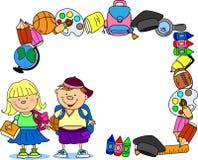 Netter Schüler und Schulmädchen Lizenzfreies Stockbild