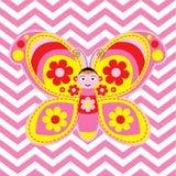 Netter Schmetterling auf Sparren backgr Lizenzfreies Stockfoto