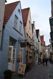 Netter Schnoor-Bezirk in Bremen Deutschland lizenzfreie stockfotos