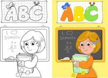 Netter Schullehrer Lizenzfreie Stockbilder