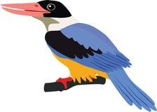 Netter Schwarz-mit einer Kappe bedeckter Eisvogelvektor Lizenzfreies Stockbild