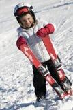 Netter Skifahrer Lizenzfreie Stockfotos