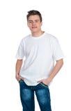 Netter smily junger Kerl Lizenzfreies Stockfoto