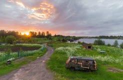Netter Sonnenuntergang Lizenzfreie Stockfotos