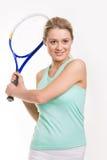 Netter Sportswoman lizenzfreie stockbilder