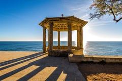 Netter stillstehender Bereich in Costa Brava, nahe kleinem Feriendorf Sagaro, Land Spanien Stockbild