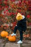 Netter stilvoller Junge Stockfoto