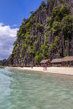 Netter Strand in Palawan Philippinen Lizenzfreie Stockbilder