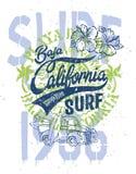Netter Surfer heben Baja California auf Lizenzfreies Stockfoto