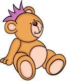 Netter Teddybär, der mit Krone sitzt Lizenzfreies Stockbild