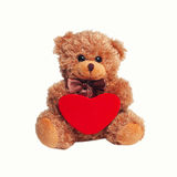 Netter Teddybär mit rotem Innerem Lizenzfreie Stockfotos