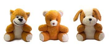 Netter Teddybär und Affe, Hund Lizenzfreie Stockbilder