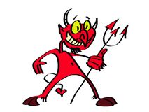 Netter Teufel Lizenzfreies Stockfoto
