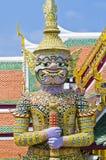 Netter thailändischer Riese Emerald Buddha Temple stockbilder