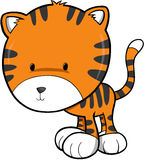 Netter Tiger-Vektor lizenzfreie abbildung