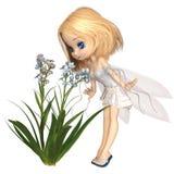 Netter Toon Forget-Me-Not Fairy Lizenzfreie Stockbilder