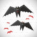 Netter Vampir Halloween-Vektors, Schläger vektor abbildung