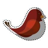 Netter Vogel lokalisierte Ikone Lizenzfreies Stockbild
