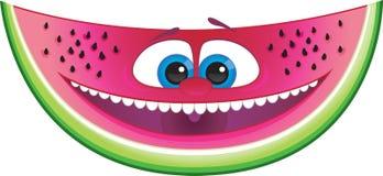 Wassermelonekarikatur Lizenzfreie Stockfotografie
