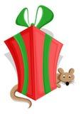 Netter Weihnachtsgeschenkbox-Vektor Stockbild
