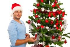 Netter Weihnachtsmann lizenzfreie stockfotos