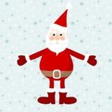 Netter Weihnachtsmann, Weihnachtskarte, Illustration, Winterhintergrund mit Schneeflocken Stockfoto