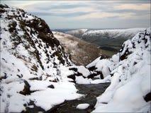 Netterer Pfadfinder im Höchstbezirk England im Winter stockbild