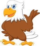 Nettes Adlerkarikaturwellenartig bewegen Stockbilder