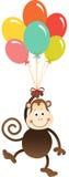 Nettes Affefliegen mit Ballonen vektor abbildung