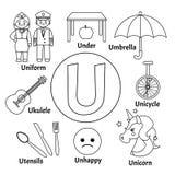 Nettes Alphabet des Vektors Kinder lizenzfreie abbildung