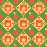Nettes Apfelmuster stock abbildung