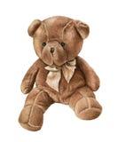Nettes Aquarell Teddy Bear lokalisiert auf Weiß vektor abbildung