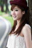 Nettes asiatisches Mädchenportrait Lizenzfreies Stockfoto
