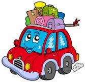 Nettes Auto mit Gepäck Stockbild