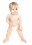 Nettes Baby in der Windel Lizenzfreie Stockfotos