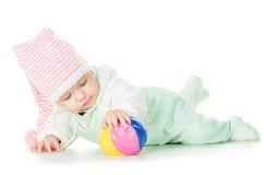 Nettes Baby sechs Monate alte Stockfotos