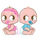 Nettes Baby und Junge Stockfoto