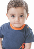 Baby, das Kamera betrachtet Lizenzfreie Stockfotos