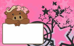 Nettes Babyochsenkarikatur-Hintergrund copyspace Stockbilder