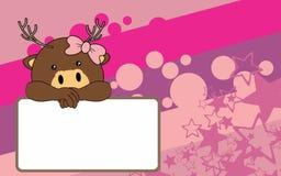 Nettes Babyrotwildkarikatur-Hintergrund copyspace Lizenzfreie Stockfotografie