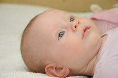 Nettes blauäugiges Baby Stockfotografie