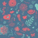 Nettes blaues Blumenmuster Lizenzfreie Stockbilder