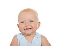 Nettes blondes Baby, das weg schaut Lizenzfreie Stockbilder