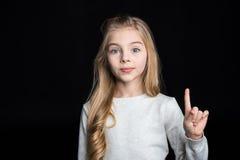 Nettes blondes Mädchen Stockfotos