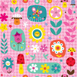 Nettes Blumenpilz-Naturmuster Stockfotografie