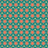 Nettes buntes Stern-Hintergrund-Muster Stockbilder