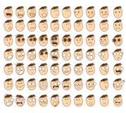 Nettes Charakter-Karikatur-Gefühl-Jungen-Gesicht Lizenzfreie Stockfotografie