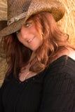 Nettes Cowgirl Lizenzfreie Stockfotografie