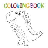 Nettes Dino-Malbuch lizenzfreie abbildung