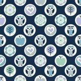 Nettes Eulengewebemuster Stockbilder
